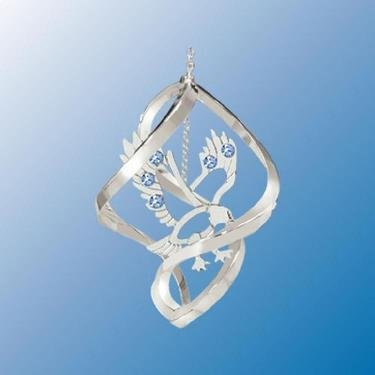 Chrome Plated Eagle Mini Classic Spiral – Blue – Swarovski Crystal