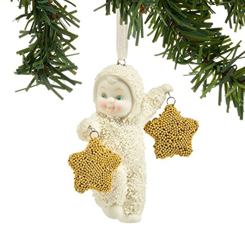 Department 56 Snowbabies Two Gold Stars Ornament 4045626 New 2015