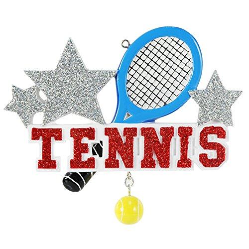 Sport Tennis Personalized Christmas Tree Ornament