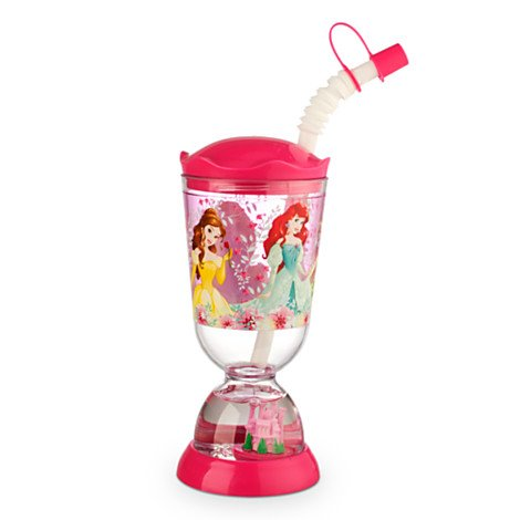Disney Kids Snowglobe Tumbler with Straw – Princess
