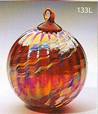 Glass Eye Studio Ornament Holiday Swirl