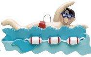 Swimmer Boy in Water Ornament