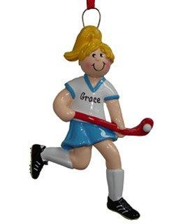 Field Hockey Girl (Blonde) Ornament