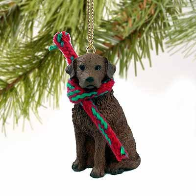 1 X Chesapeake Bay Retriever Miniature Dog Ornament