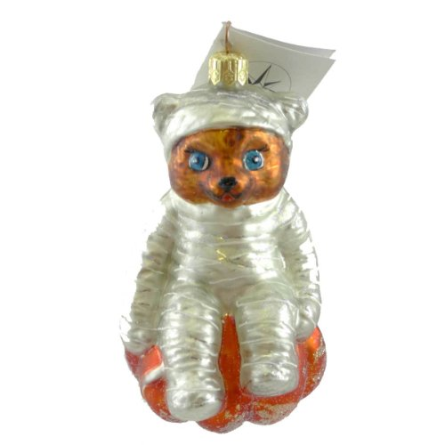 Christopher Radko BEAR WRAP Glass Ornament Halloween Mummy