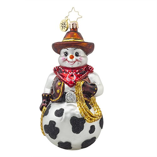 Christopher Radko Snowy Cowboy Christmas Ornament