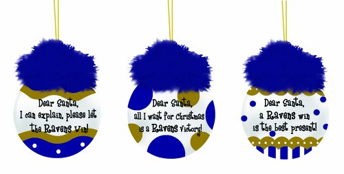 Baltimore Ravens Team Sayings Ornament Set
