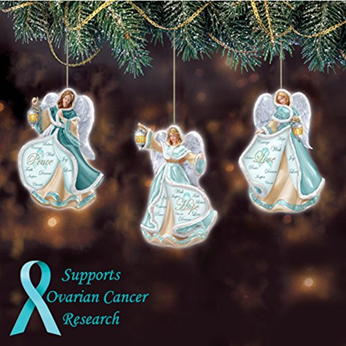 Ovarian Cancer Angels Christmas Ornaments 3.5″H (8.8 cm.)