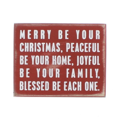 Primitives by Kathy Merry Be Your Christmas Box Sign