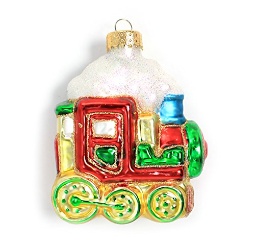 Holiday Lane Molded Glass 4-inch Train Christmas Ornament