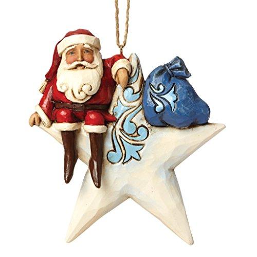 Enesco Jim Shore Santa on Star Ornament