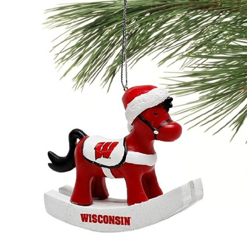 Wisconsin Badgers Rocking Horse Christmas (Holiday) Ornament