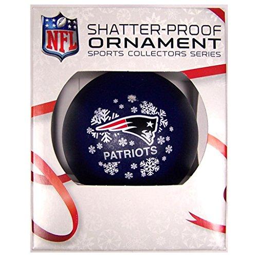 NFL New England Patriots Shatterproof Ball Ornament
