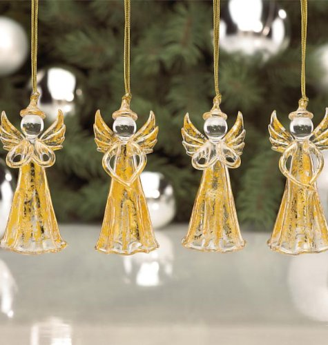 Lenox Angel Hanging Ornaments, Gold, Set of 4