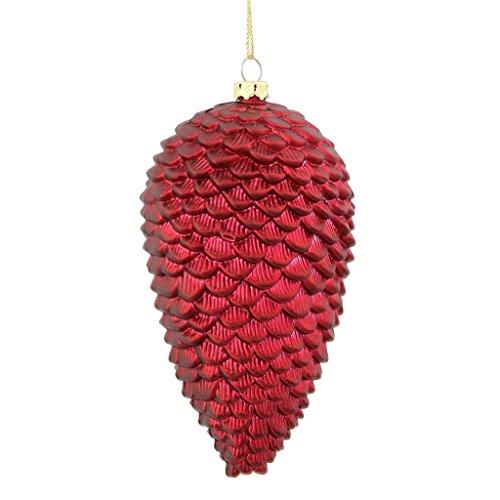 Vickerman 338416 – 5″ Burgundy Matte Glitter Pine Cone Christmas Tree Ornament (M135005)