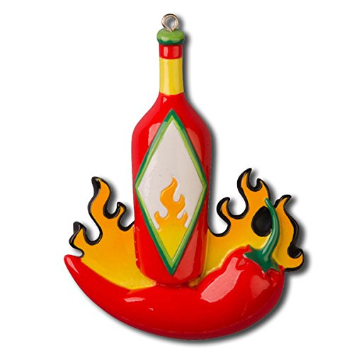 Hot Sauce Personalized Christmas Tree Ornament