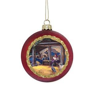 Enesco Thomas Kincaid Painter of Light Nativity Ornament, 3.5-Inch