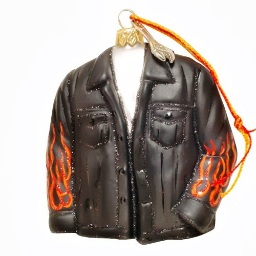 Ornaments to Remember: BIKER JACKET Christmas Ornament