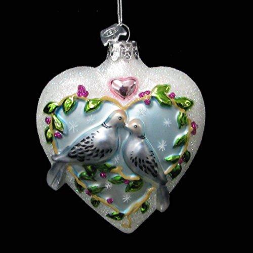 4″ Noble Gems Glass Turtledove Ornament