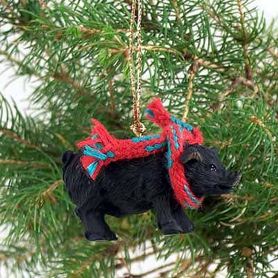 Conversation Concepts Pig Black Original Ornament