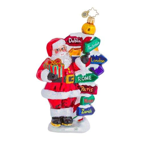 Christopher Radko All Around The World Santa Ornament – 1016476 – 5.5″H.