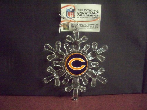 Chicago Bears Traditional Snowflake Ornament by Topperscot