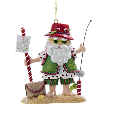 Kurt Adler 3.5″ Resin Fishing Santa Ornament