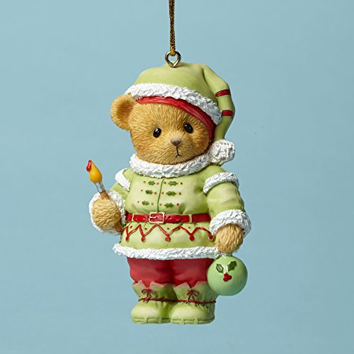 HO Elf Bear Painting Ornament