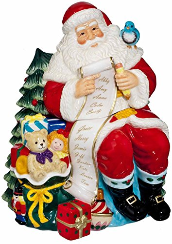Marquis By Waterford Ceramic Cookie Jar Santa with List Christmas Ornament
