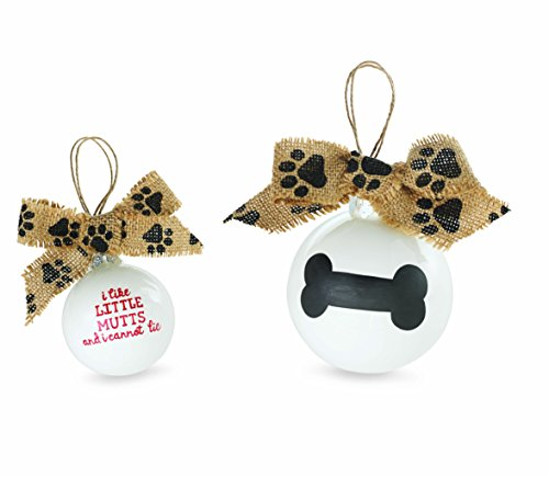 Mud Pie Ceramic Dog Ornament