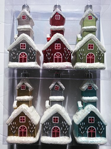 Frosted Traditions 4.7 in. Decorative Church Ornament (6-Piece)