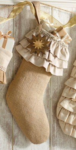 Mud Pie Ornament Stockings (Brown)