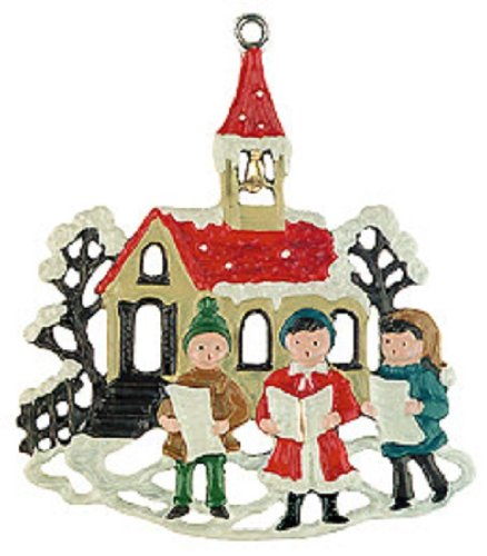 Singers by Church German Pewter Christmas Ornament