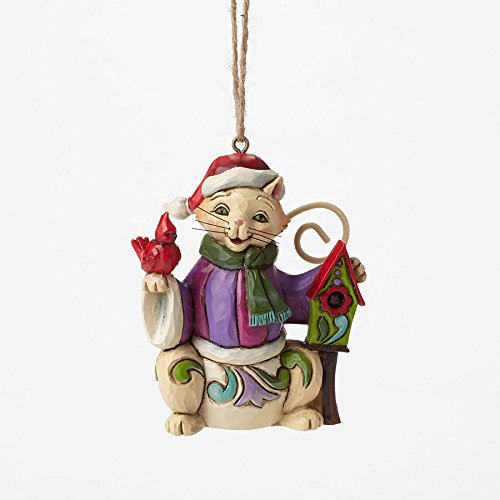Enesco Jim Shore Cat with Birdhouse Mini Ornament