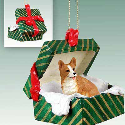 Conversation Concepts Welsh Corgi Pembroke Gift Box Green Ornament