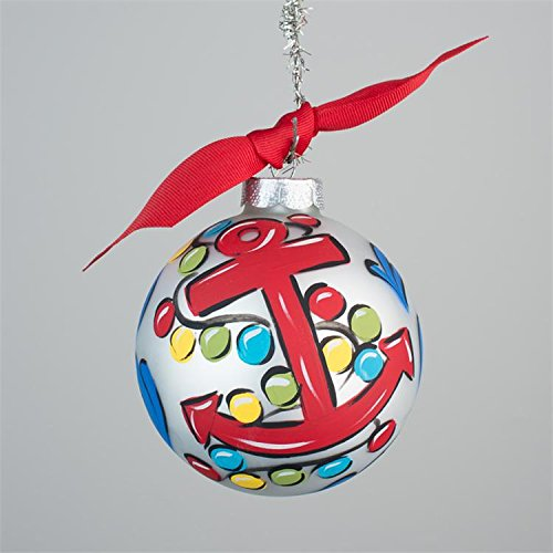 Glory Haus Anchor Glass Ornament, 4-Inch