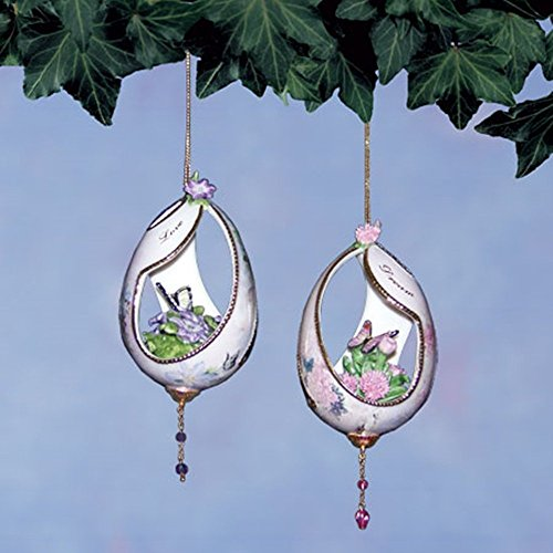 Lena Liu Silken Wings Butterfly Ornaments by The Bradford Exchange