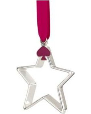Kate Spade New York Tough Cookie Star Silver Plate Christmas Ornament