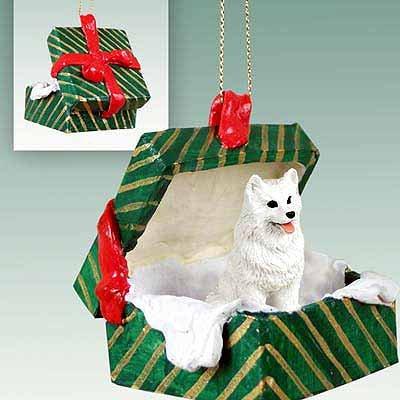 Conversation Concepts American Eskimo Gift Box Green Ornament