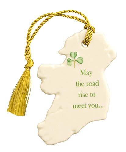 """May the Road Rise to Meet You"" Hanging Ornament by Irish Belleek"