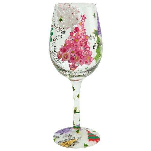 Santa Barbara Design Studio GLS11-5521M Lolita Love My Wine Hand Painted Glass, O Christmas Tree