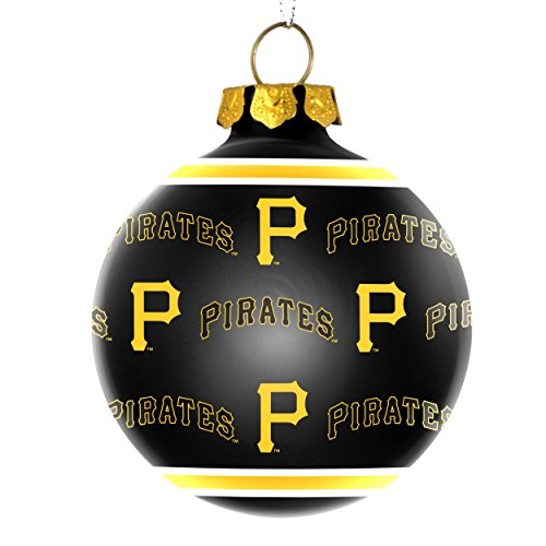 Pittsburgh Pirates Official MLB Repeat Glass Ball Christmas Ornament by Forever Collectibles 269453