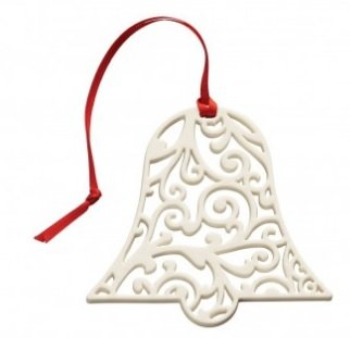 Belleek 7534 Lace Bell, 3.7-Inch, White