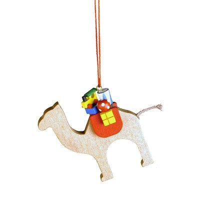 "10-0465 – Christian Ulbricht Ornament – Camel with Toys – 2.5″""H x 2.75″""W x 1″""D"