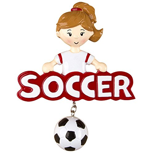 Soccer Girl Personalized Christmas Tree Ornament