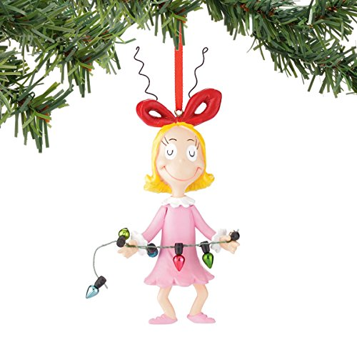 Department 56 Classics Grinch Cindy Holding Lights