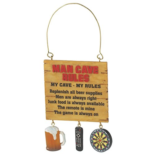 Midwest CBK Man Cave Rules Christmas Ornament