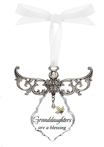 Granddaughters are a Blessing Clear Angel Gown Christmas Tree Ornament – By Ganz