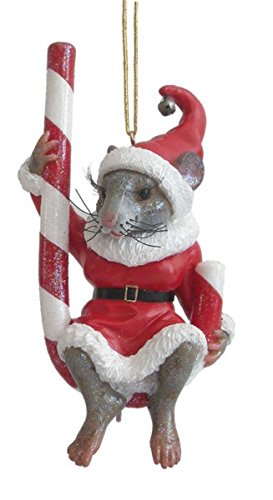 December Diamonds Peppermint Mouse Christmas Ornament