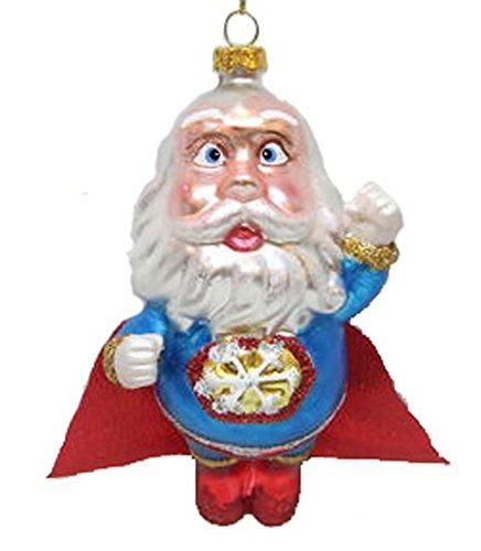 December Diamonds Blown Glass Ornament Superman Santa